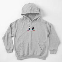 Sudadera con capucha para niños Cara de Kirby
