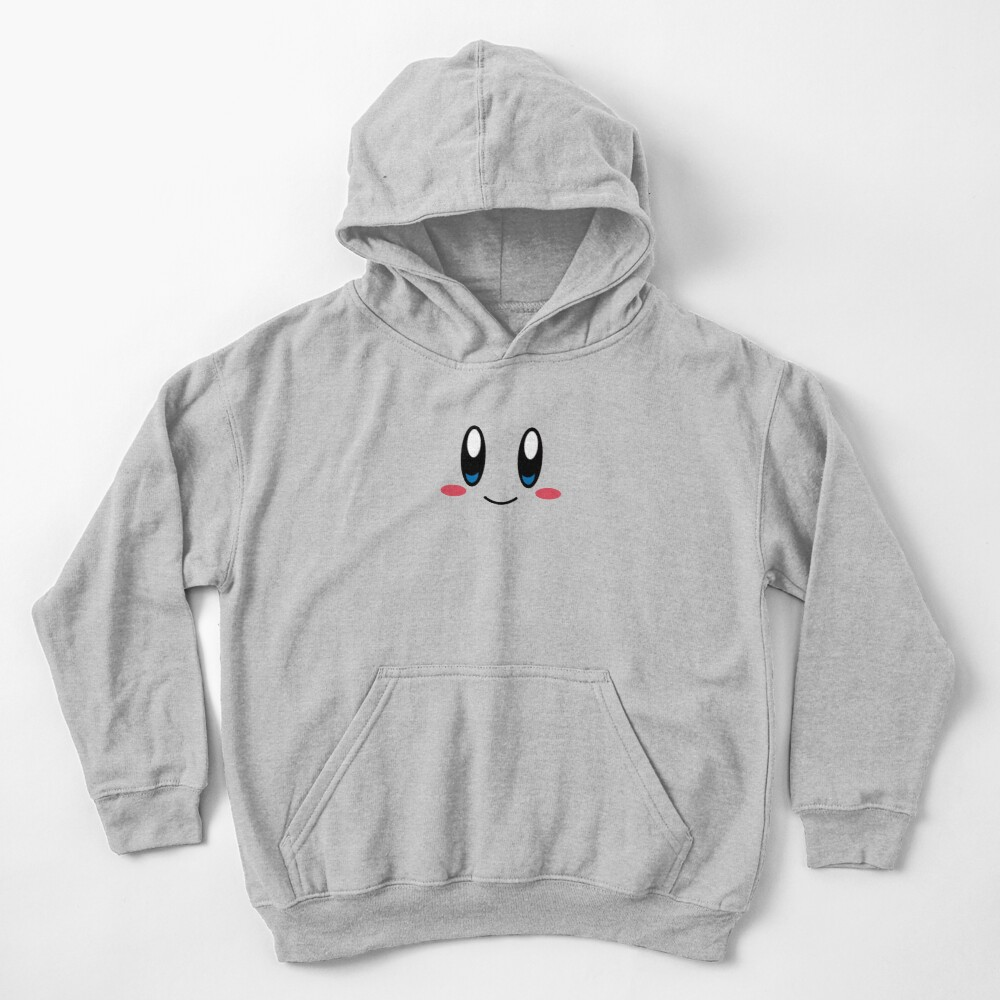 Cara de Kirby Sudadera con capucha para niños