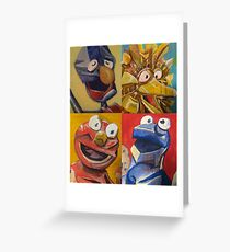 sesame street abstract Greeting Card
