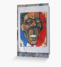 obama abstract Greeting Card