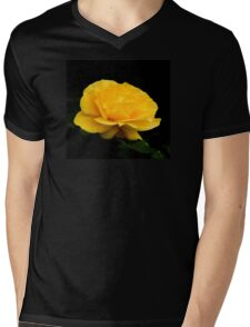 Golden Yellow Rose Isolated on Black Background T-Shirt