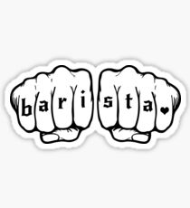 Barista fists Sticker