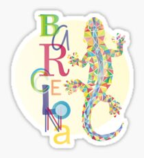 Fashion Barcelona City Lizard Sticker