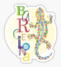 Fashion Barcelona City Lizard Sticker
