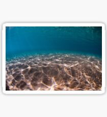 Sand sea bed photographed underwater Sticker
