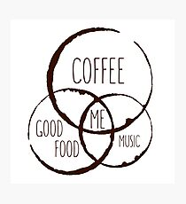 Coffee, good food & music! Photographic Print