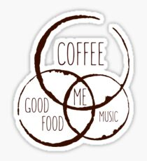 Coffee, good food & music! Sticker