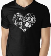 Barista Love Men's V-Neck T-Shirt