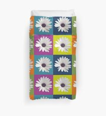 White African Daisy Collage On Bright Background Duvet Cover