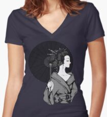 Vecta Geisha Women's Fitted V-Neck T-Shirt
