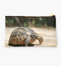 Portrait of a Young Wild Tortoise Studio Pouch