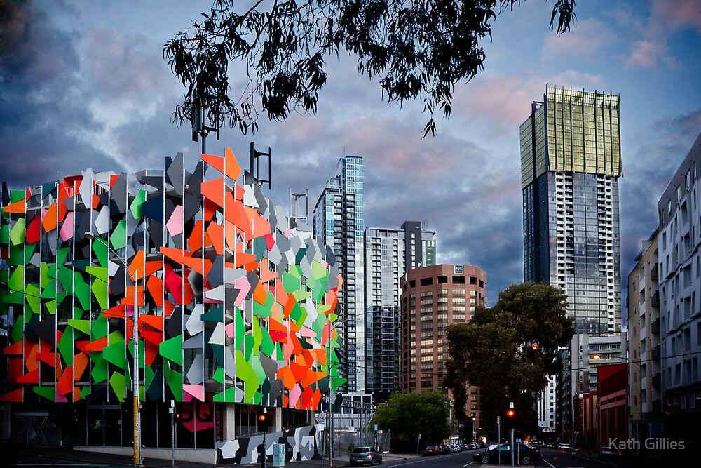 Pixel Building, worlds 2nd most ugliest building. by Kath Gillies