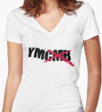 All Young Money, Fuck Cash Money! Lil Wayne YMCMB Women's Fitted V-Neck T-Shirt