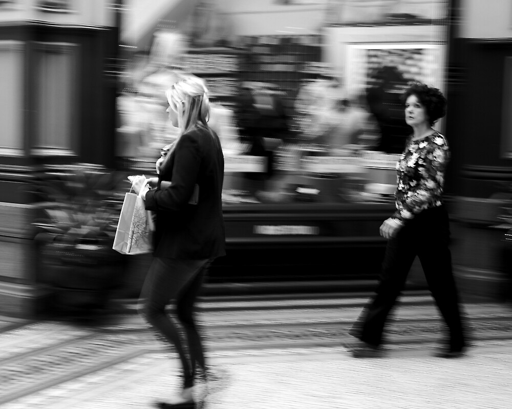 Fast Moving Shoppers  by Andrew  Makowiecki
