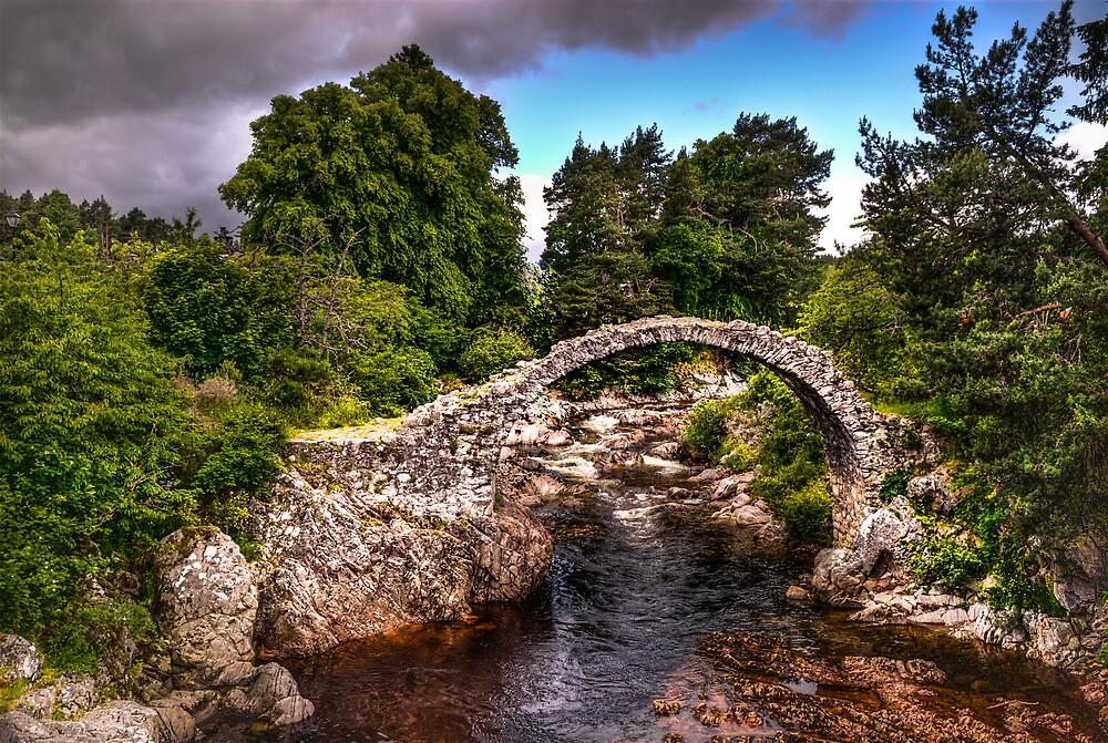 old stone bridge - carrbridge by wulfman65