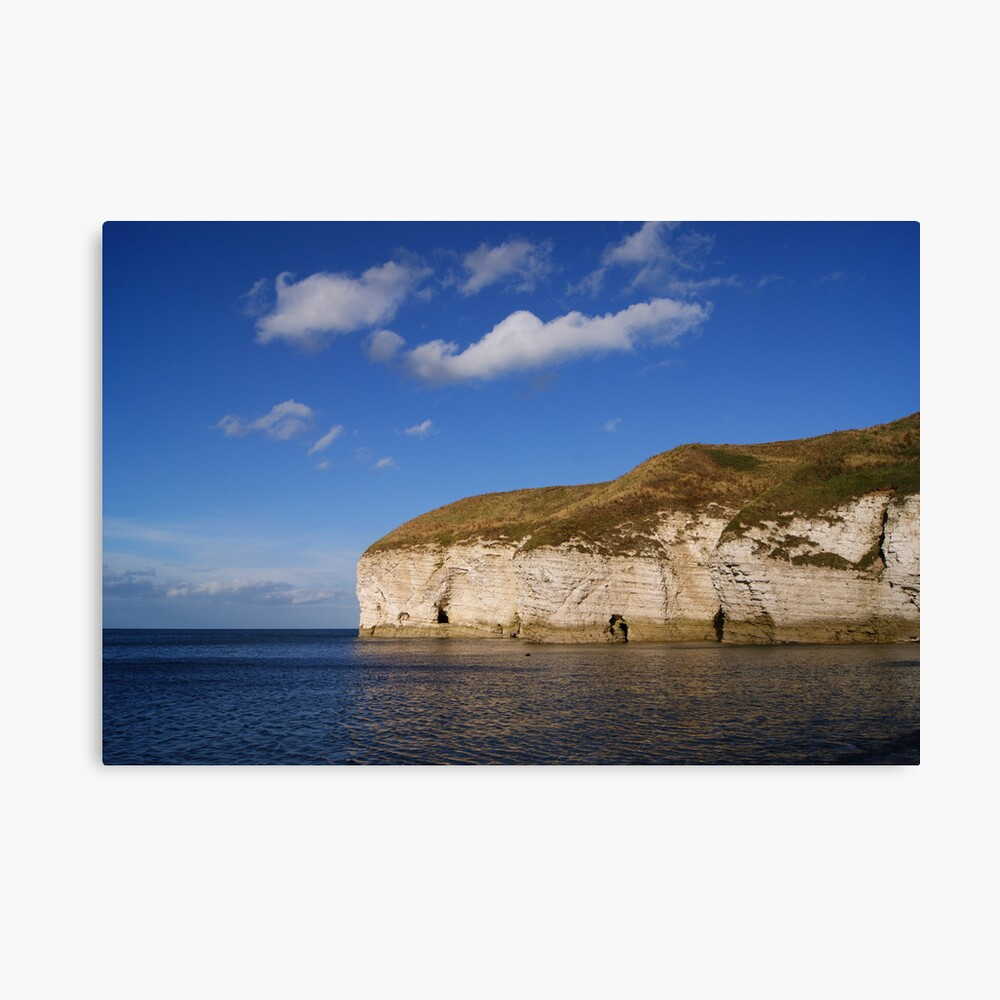 Flamborough Cliffs. North Landing. Canvas Print