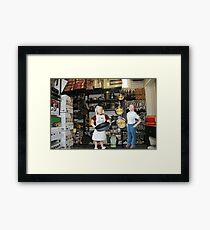 I realize you don't approve of my new job, but do you have to keep referring to it as panhandling?? Framed Print