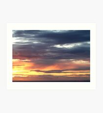 westward ho sunset 444  b7 Art Print