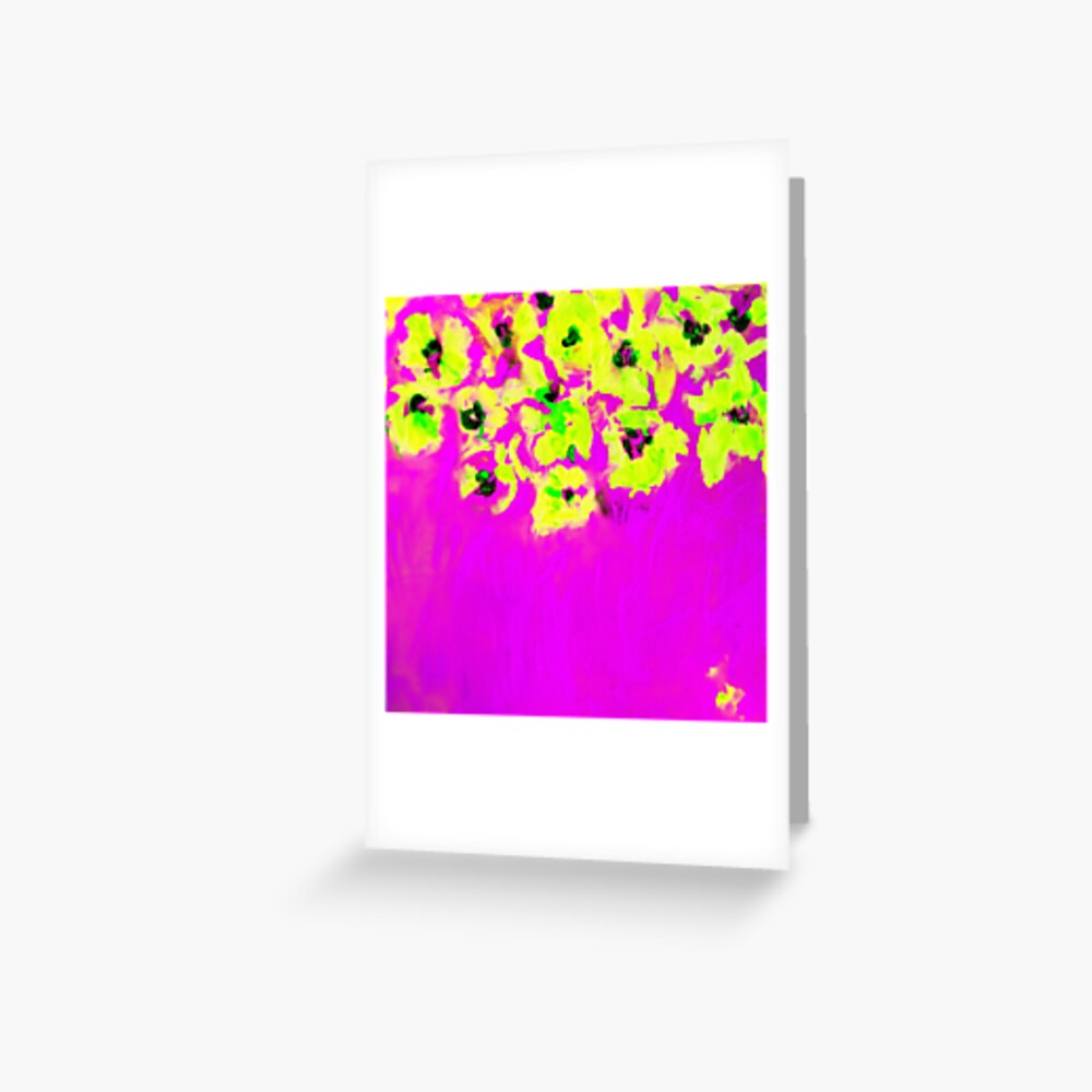 Habibiflo pink Greeting Card