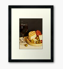 Red, Cheese, Sausage and Olives Framed Print