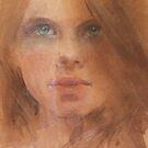 a watercolour face by djones