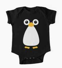 Cute Vector Penguin One Piece - Short Sleeve