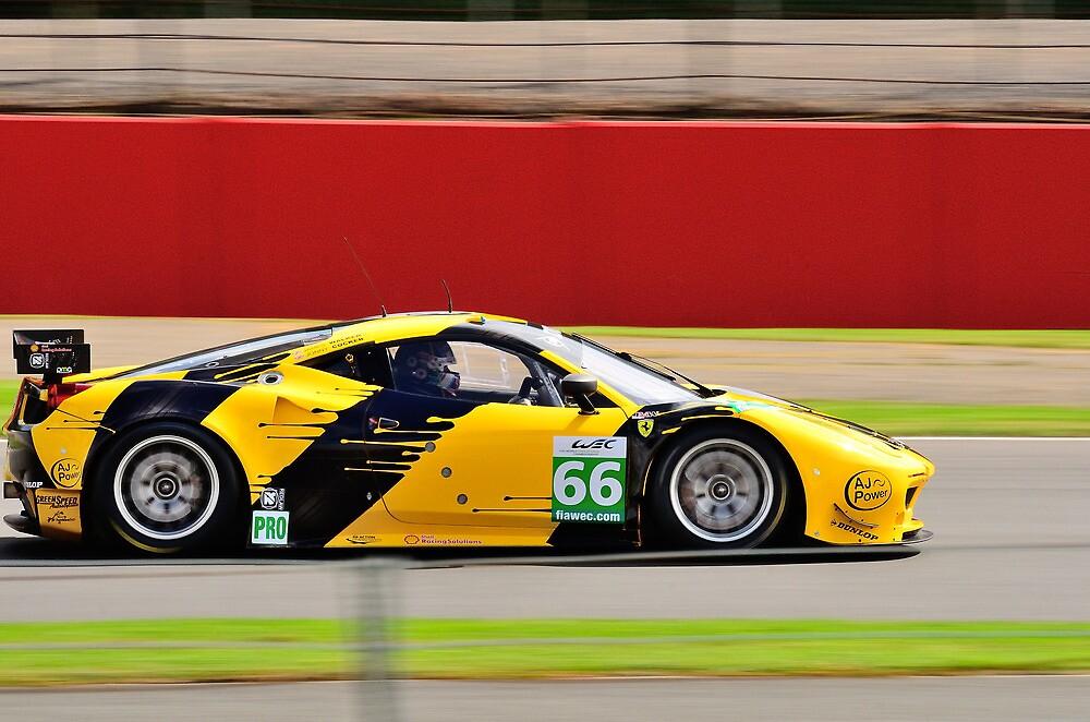 JMW Motorsport Ferrari No 66 by Willie Jackson