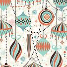 Elegant Art-Deco Christmas Ornaments Random Pattern by artonwear