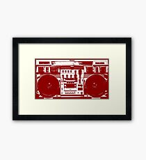 Conion C-100F Boombox Art by Bill Tracy Framed Print