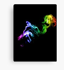 Colorful Smoke Canvas Print