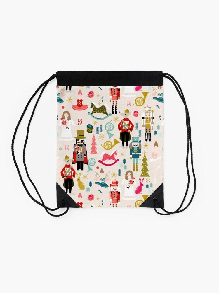 Alternate view of The Nutcracker - Beige by Andrea Lauren  Drawstring Bag