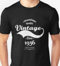 Premium Quality Vintage Since 1936 Limited Edition T-Shirt