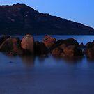pre sunrise, the hazards. tasmania, australia  by tim buckley   bodhiimages