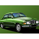 Saab 96 Poster illustration by RJWautographics