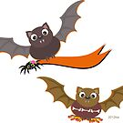 Flying Bats for Halloween Night by TheBluePlanet