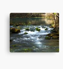 Alley Springs Small Waterfall Canvas Print