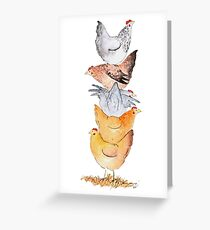 Hen Tower Greeting Card