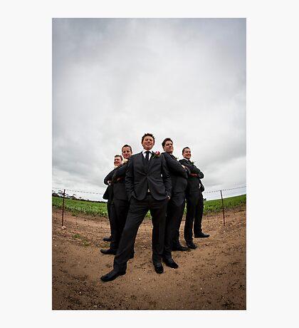 Groom's Men Photographic Print