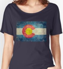 Colorado State Flag with vintage retro style treatment Women's Relaxed Fit T-Shirt