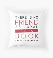 BOOK QUOTE: ERNEST HEMINGWAY Throw Pillow