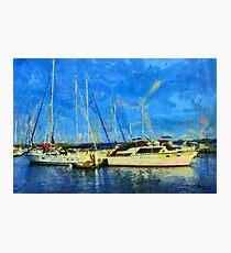 Boats on Ontario Lake Photographic Print