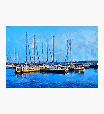 Boats on Ontario Lake on a Nice Sunny Summer Day Photographic Print