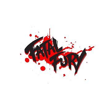 FATAL FURY Blood Splatter T  by marcus32x