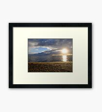 Sun on Sand and Water, Loch Sport, Victoria Framed Print