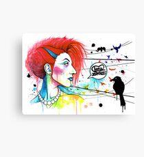 Lora Zombie Canvas Print
