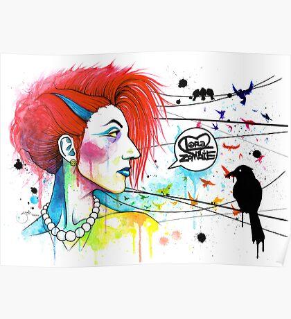 Lora Zombie Poster