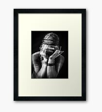 .opinion. Framed Print