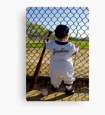 Little Slugger Canvas Print
