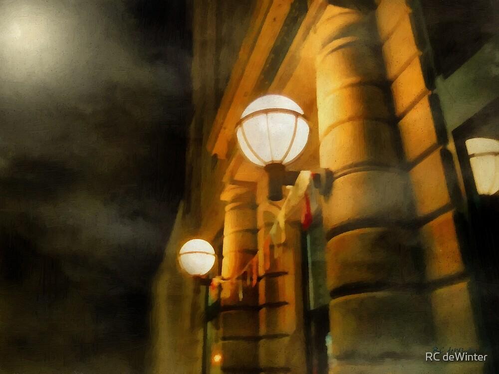 Foggy Night on Main Street by RC deWinter