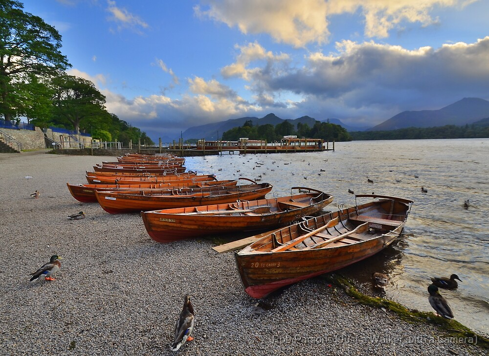 The Lake District: Evening at the Keswick Landing Stages by Robert Parsons